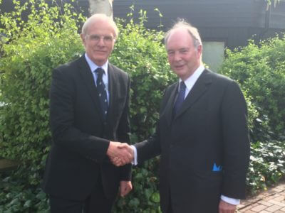 Ron Ball welcomes Philip Seccombe