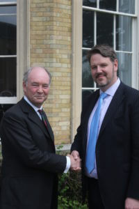 Warwickshire Police and Crime Commissioner Philip Seccombe with West Mercia Police and Crime Commissioner John Campion