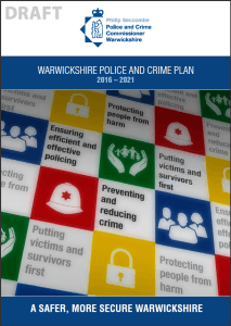 The Draft Police and Crime Plan cover