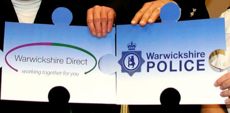 Warwickshire Direct and Warwickshire Police logos