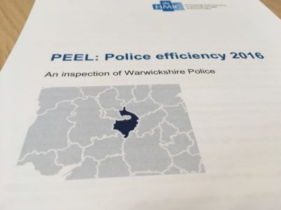 Photo of the HMIC PEEL Efficiency report cover