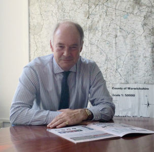 Philip Seccombe in his office