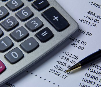A calculator and financial papers