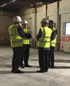The Commissioner and Chief Constable Martin Jelley discussing progress on the new OCC with representatives of Place Partnership.