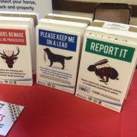 Some of the crime prevention advice on display