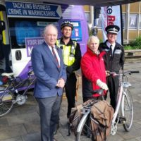 A bike marking event in Warwick.