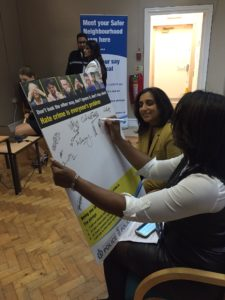 Pledges being signed during a WREP event.