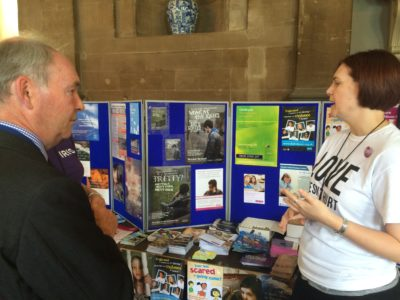 PCC Seccombe talking to delegates and organisations involved with safeguarding at the MASH launch.