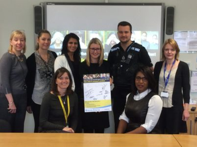 Pledges being signed at the Countrywide Hate Crime Group.