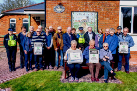 Philip with villagers at the launch of the Supported Village scheme in Willoughby.