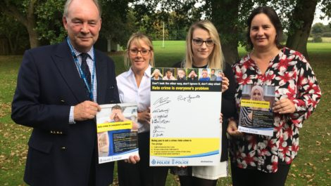 Philip popped into to an induction day for new staff at Leek Wootton to explain his role and answer questions. While there he gathered some more signatures for the pledge to #EndHateCrime.