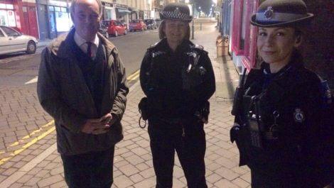 On patrol in Leamington Spa.