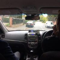 En route to Bidford with the Safer Neighbourhood Team