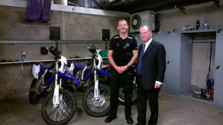 PC Andy Morrissey and the off road bikes
