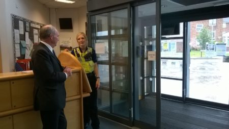 PCC with PCSO Amy Robertson at the CHESS Centre, Camp Hill