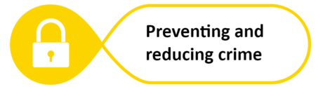 Preventing and reducing crime banner