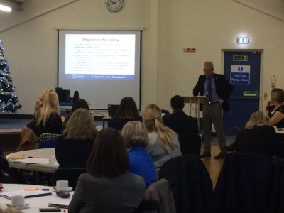 OPCC Policy and Research Officer Chris Lewis addresses the Victims' Forum