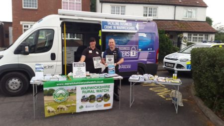 One of the property marking events in Wolvey.