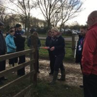 Rural Crime Co-ordinator Lucy Lambert explains the opportunities for forensic examination in rural settings to attendees at Moreton Morell.