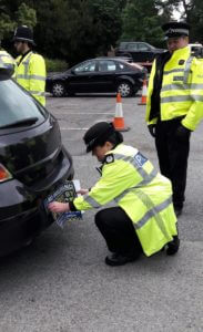 A seventh vehicle of the day is seized with the help of the Force Operations Tasking team.
