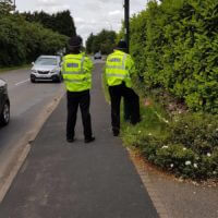 Speed checks in Wellesbourne for National Specials Weekend