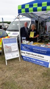 Warwickshire Horse Watch were at the Warwickshire Police stand, for free tack marking and advice.