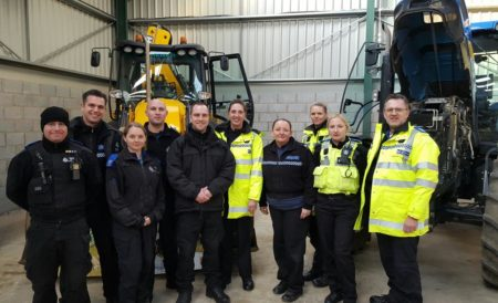 Officers and PCSOs from Safer Neighbourhood Teams at the Pailton event.