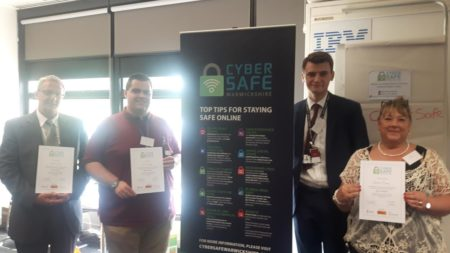 Cyber Crime Advisor Alex Gloster with the Victim Support Cyber Champions.