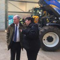 Rural Crime Co-ordinator Carol Cotterill chats to Philip at the Pailton event.