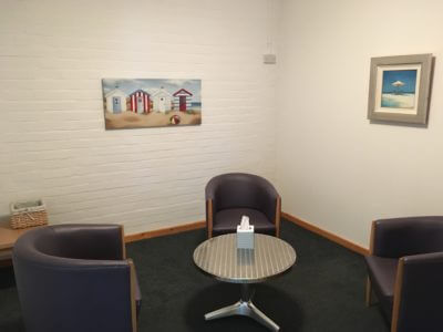 One of the consultation rooms at the Domestic Abuse Counselling Service in Bedworth.