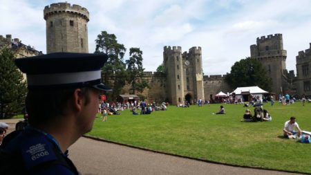 PCSO Matt Hall at Warwick Castle