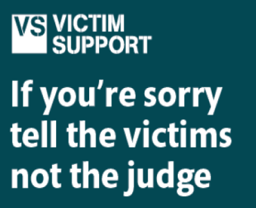 Restorative Justice - if you're sorry, tell the victims. not the judge
