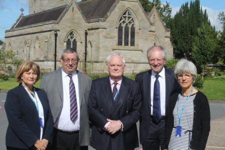 Trust, Integrity and Ethics Committee members, from left: Jane Spilsbury, Chris Cade, Colonel Tony Ward, Clive Parsons and Lady Susanna McFarlane
