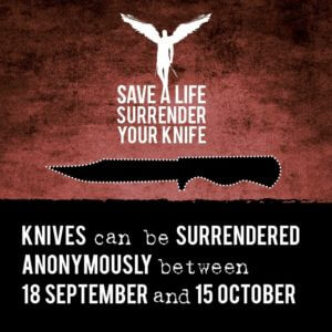 Knife surrender campaign image