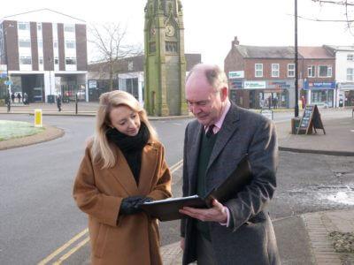 Philip Secccombe consults a member of the public