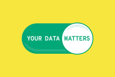 Your data matters banner