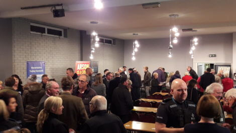 The large turnout for the Rural Crime event at Fillongley