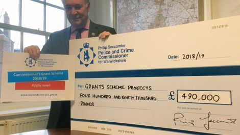Philip Seccombe launching the 2018/19 Grants Scheme