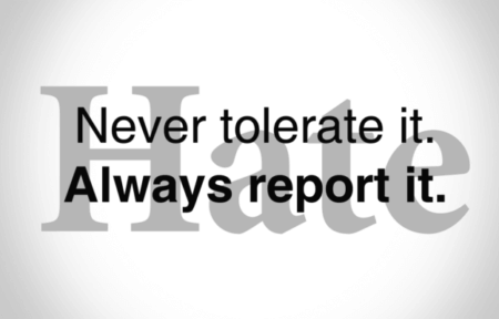 never tolerate it always report it