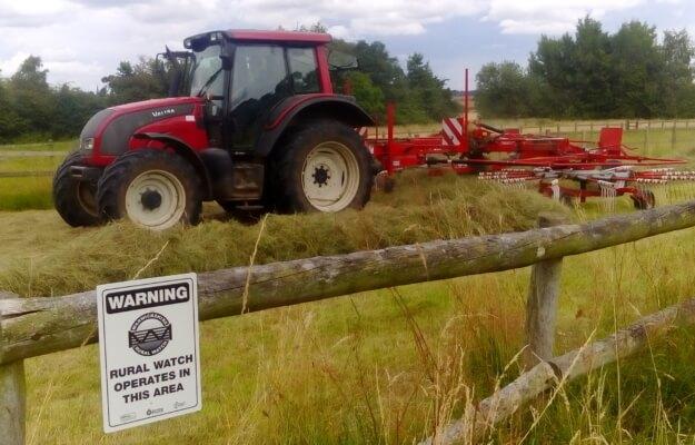 tractors rural watch sign