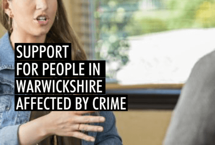 Support for people in Warwickshire affected by crime survey banner