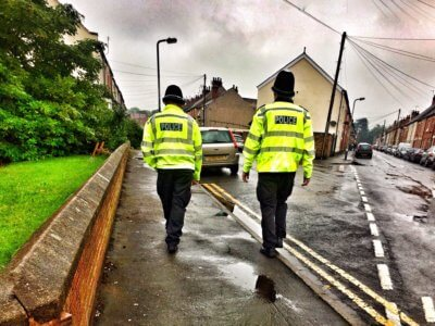 Officers on foot patrol in Nuneaton