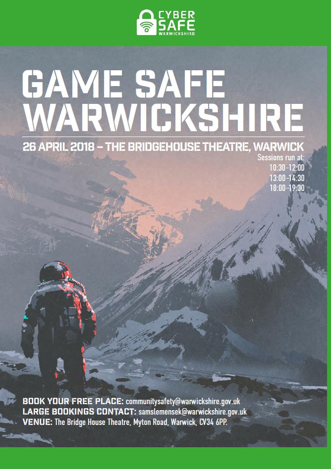 Game Safe Warwickshire poster