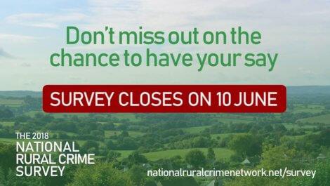 National Rural Crime Survey - Survey Closes on June 10