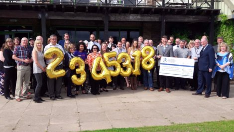 Warwickshire Police and Crime Commissioner Philip Seccombe and representatives of the projects which have received £2,345,318 in funding from the Commissioner's Grants Scheme.