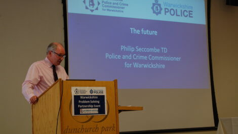 Philip giving his closing address at the Problem Solving Partnership Event.