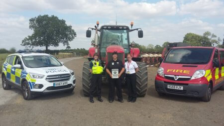 PCSO Sarah Fretter from Warwickshire Police; Carol Cotterill, Rural Crime Co-ordinator; and Rebecca Roberts, from Warwickshire Fire & Rescue Service's Arson Reduction Team