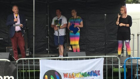 The PCC giving the opening address at Warwickshire Pride.