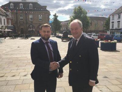 Business Crime Advisor Bogdan Fironda with PCC Philip Seccombe