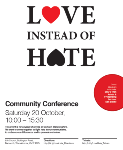 Love Instead Of Hate Poster